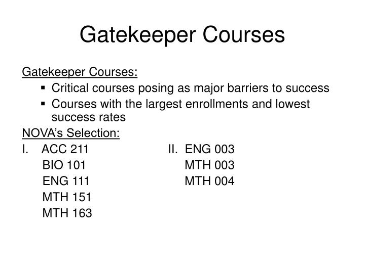 Gatekeeper Courses