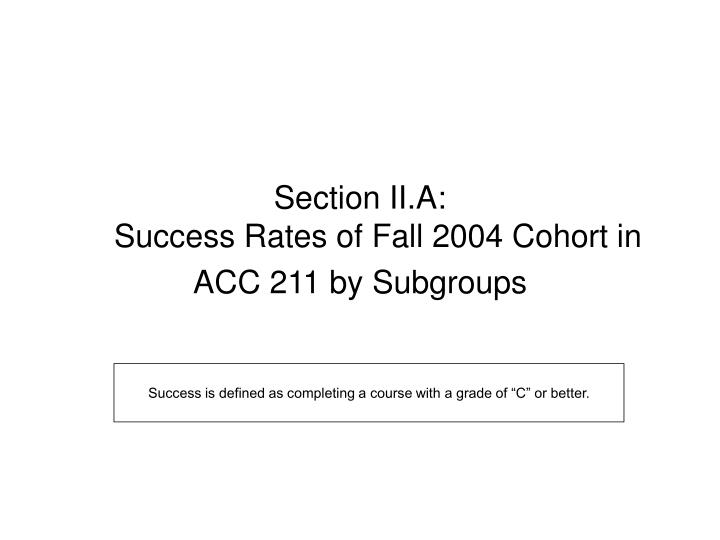 Section II.A: