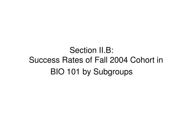 Section II.B: