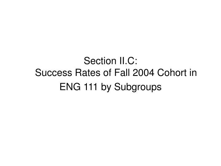 Section II.C: