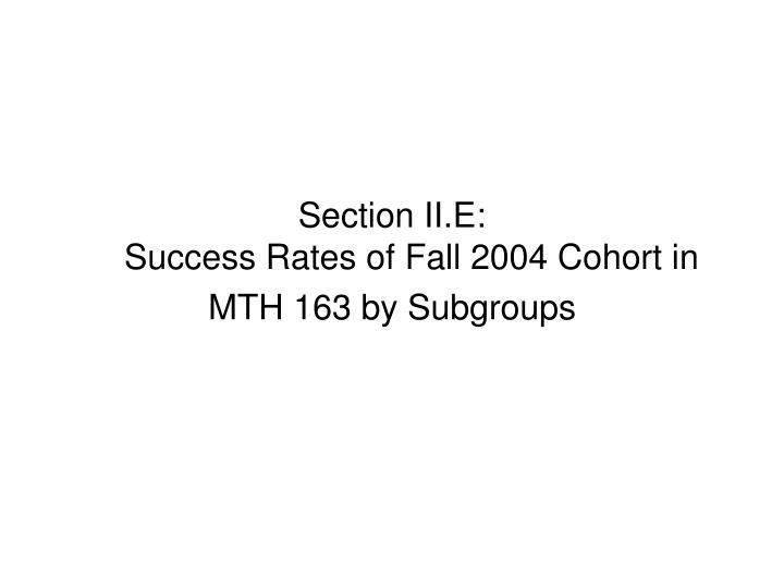 Section II.E: