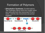 formation of polymers