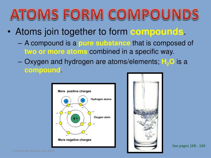 ATOMS FORM COMPOUNDS