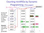 counting minargs by dynamic programming this paper