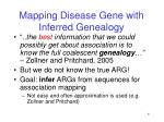 mapping disease gene with inferred genealogy