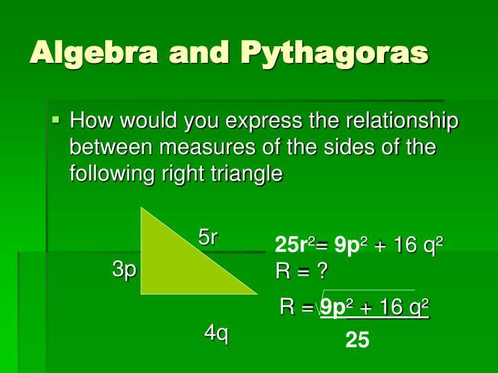 Algebra and Pythagoras