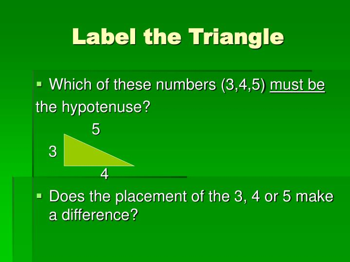 Label the Triangle