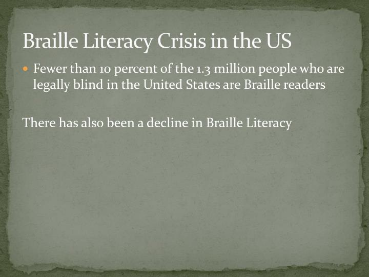 Braille Literacy Crisis in the US