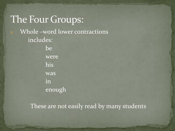 The Four Groups: