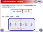 the least common multiple2