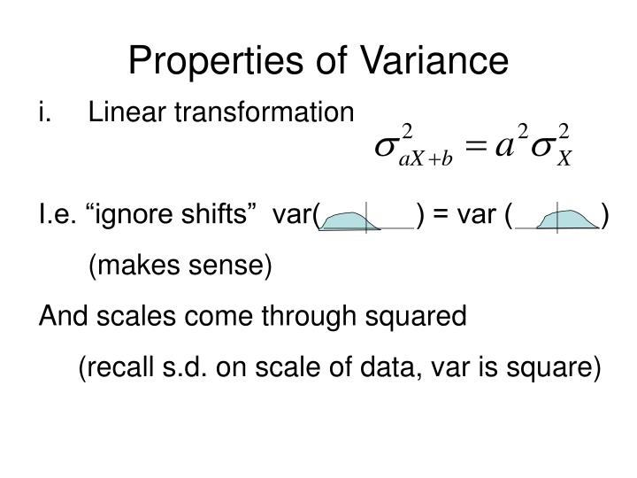 Properties of Variance