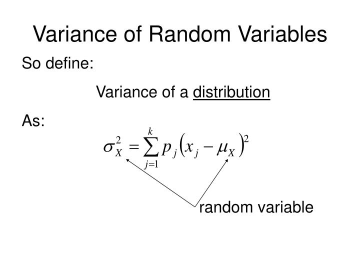 Variance of Random Variables
