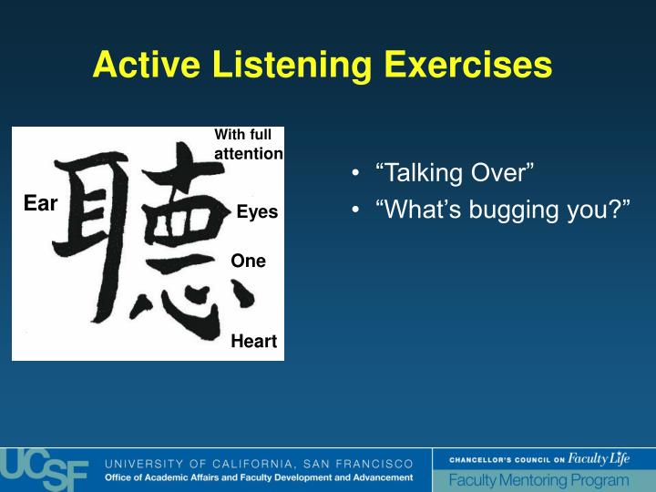 Active Listening Exercises
