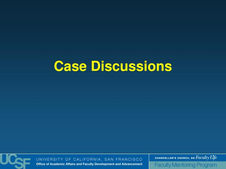 Case Discussions