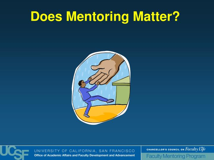 Does Mentoring Matter?