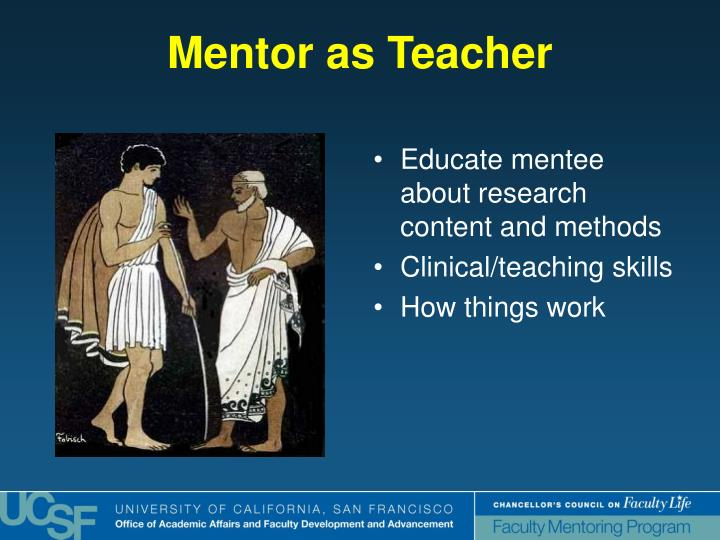 Mentor as Teacher