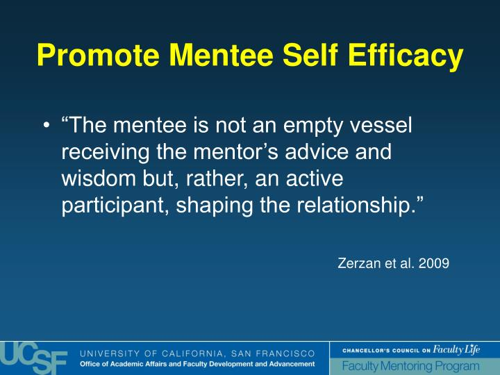 """The mentee is not an empty vessel receiving the mentor's advice and wisdom but, rather, an active participant, shaping the relationship."""