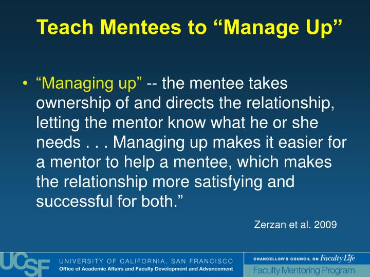 """""""Managing up"""""""
