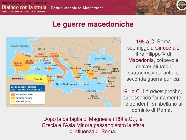 Le guerre macedoniche