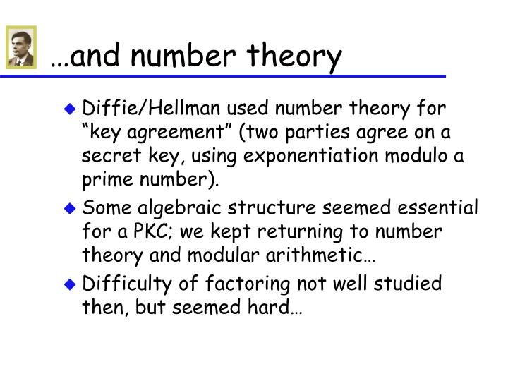 …and number theory