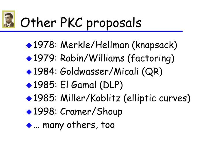 Other PKC proposals