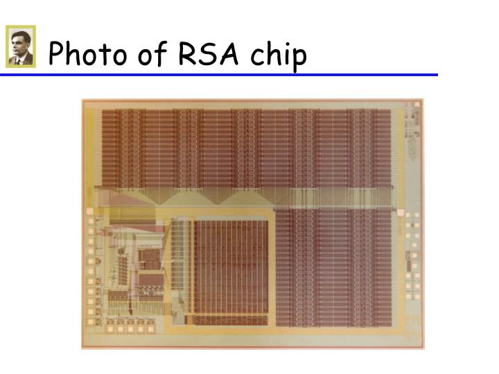 Photo of RSA chip