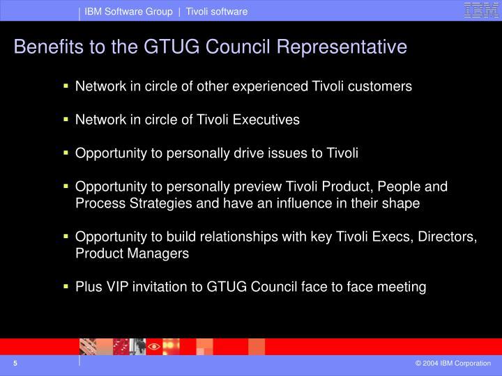Benefits to the GTUG Council Representative