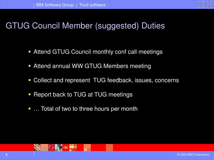 GTUG Council Member (suggested) Duties
