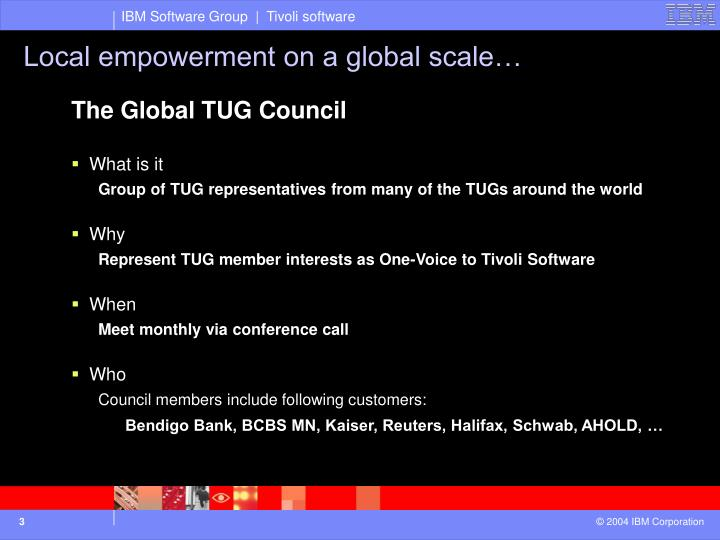 Local empowerment on a global scale…