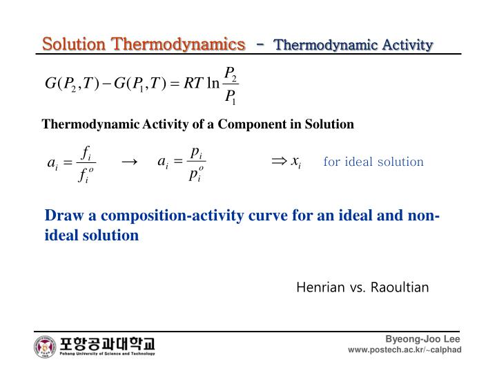 Solution Thermodynamics