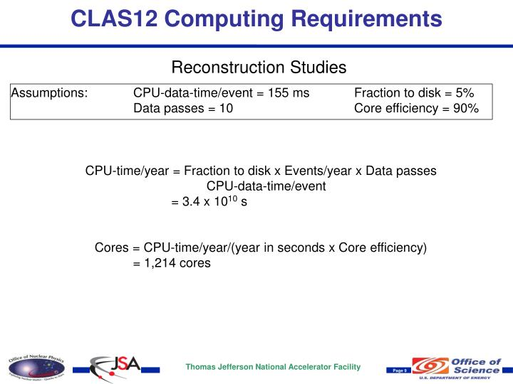 CLAS12 Computing Requirements
