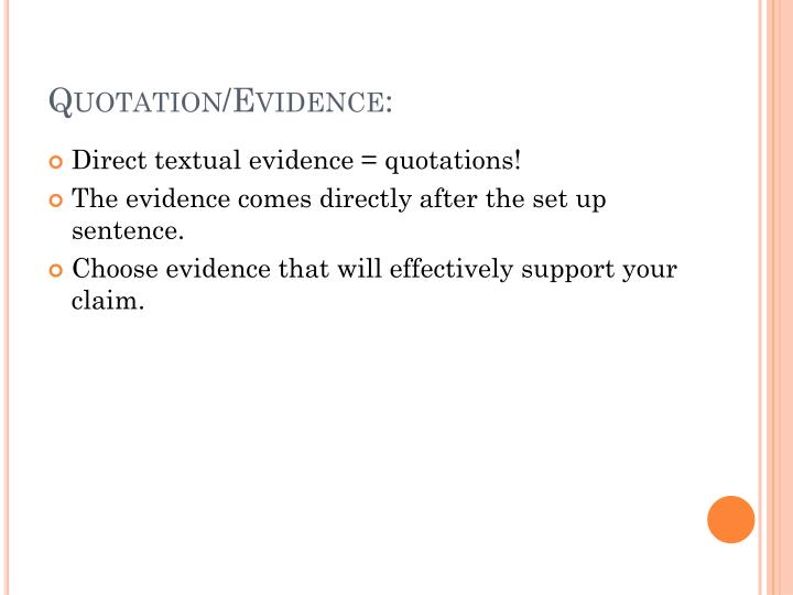 Quotation/Evidence: