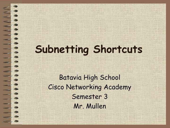 Subnetting shortcuts