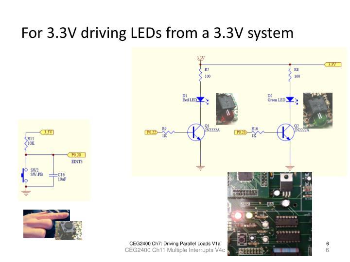 For 3.3V driving LEDs from a 3.3V system