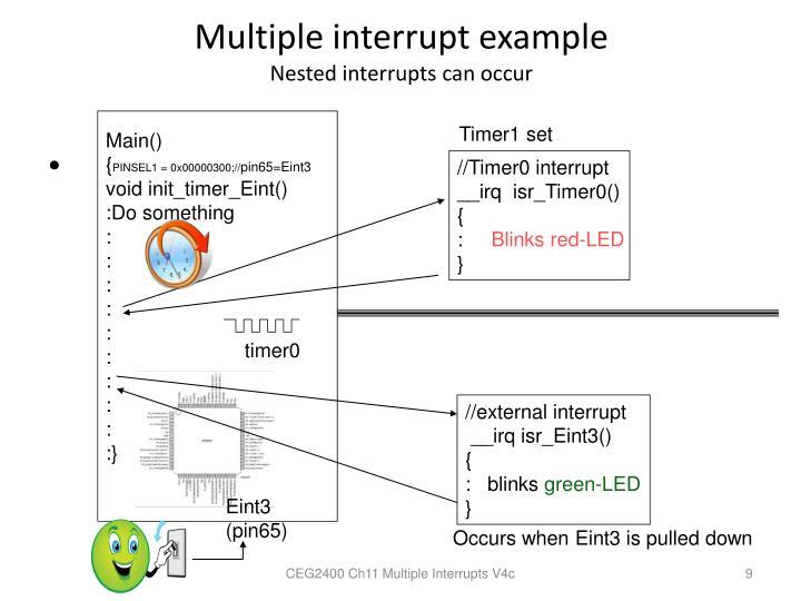 Multiple interrupt example