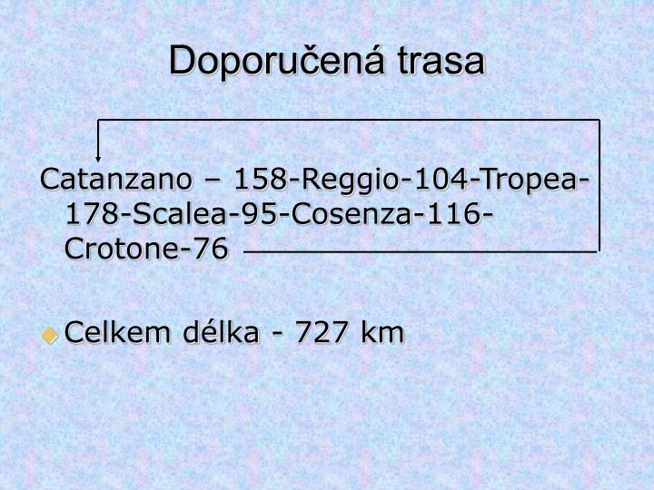 Doporučená trasa