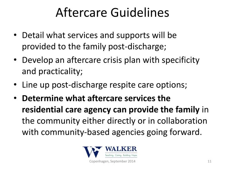 Aftercare Guidelines