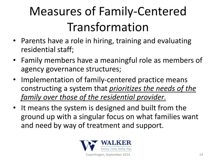 Measures of Family-Centered Transformation
