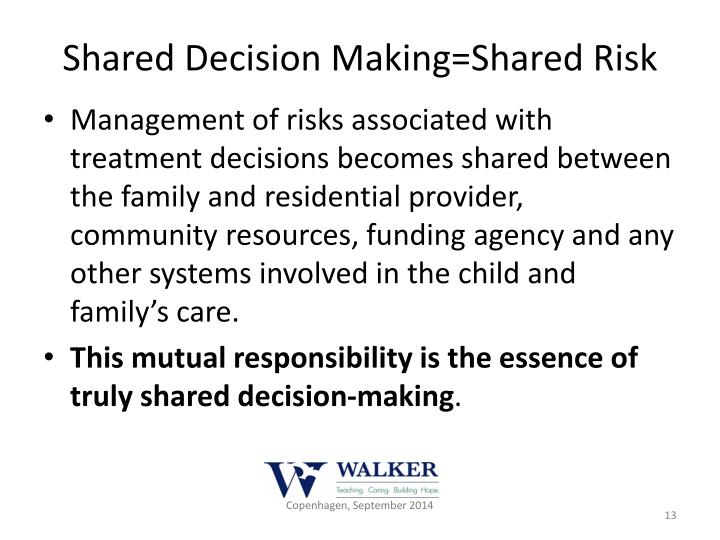 Shared Decision Making=Shared