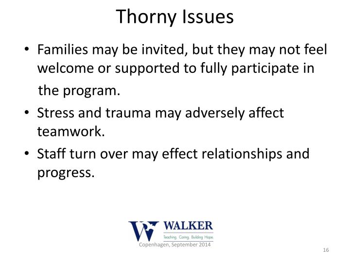 Thorny Issues