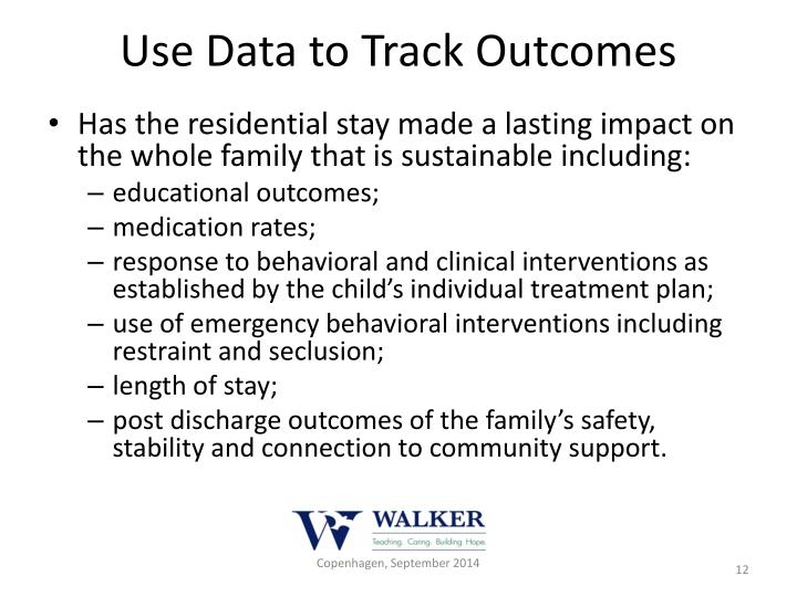Use Data to Track Outcomes