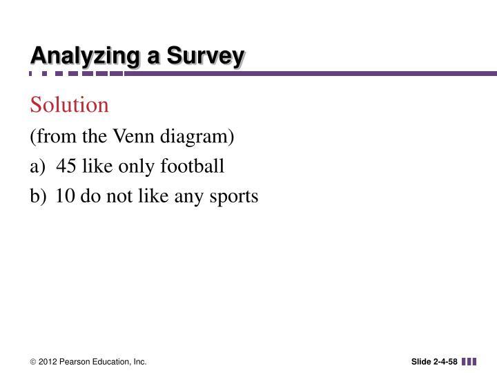 Analyzing a Survey