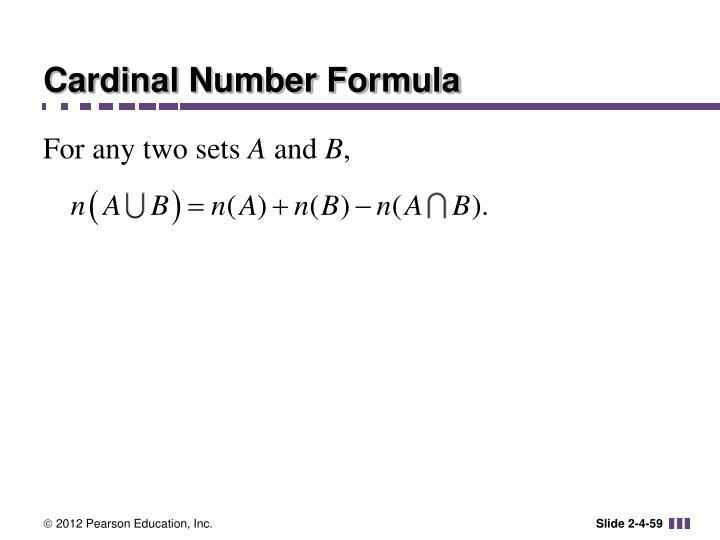 Cardinal Number Formula