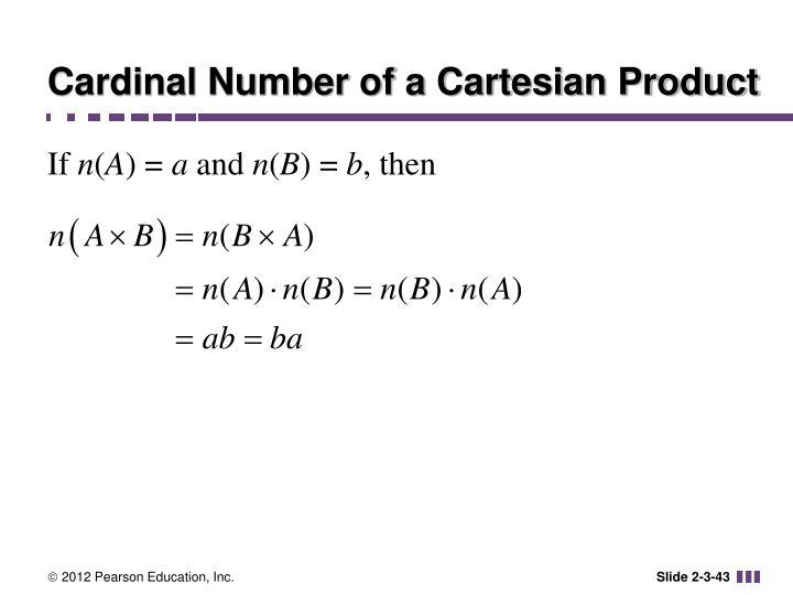 Cardinal Number of a Cartesian Product