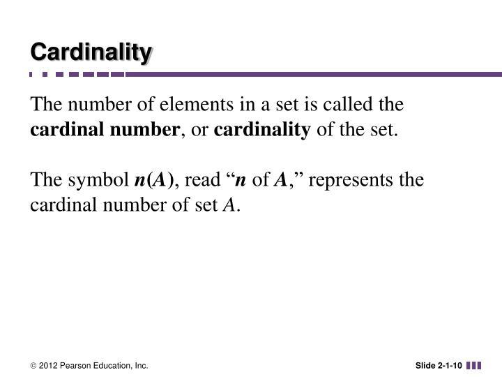 Cardinality