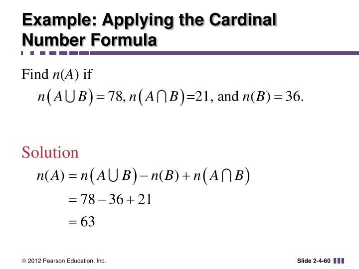 Example: Applying the Cardinal Number Formula