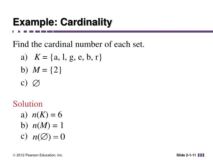 Example: Cardinality
