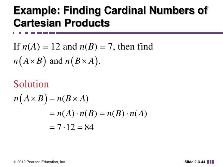 Example: Finding Cardinal Numbers of Cartesian Products