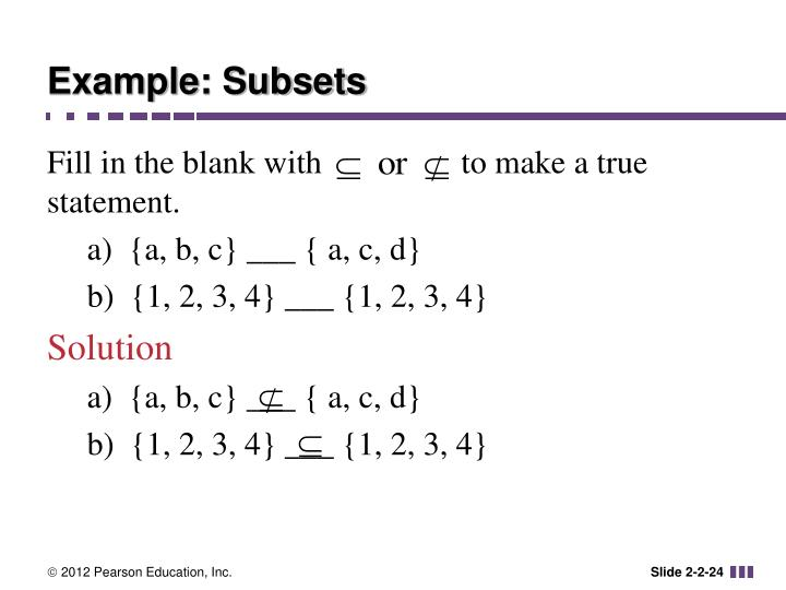 Example: Subsets