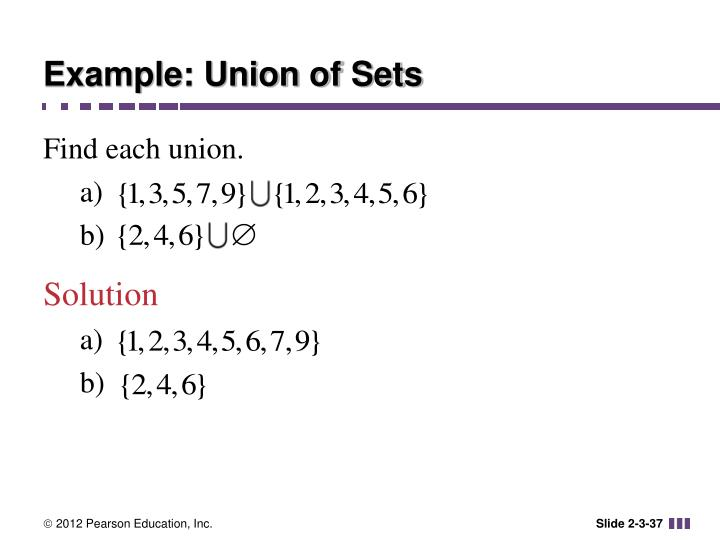 Example: Union of Sets